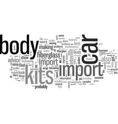 Import car body kits vector