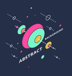 Isometric shapes in space trendy abstract vector