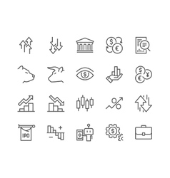 Line Stock Market Icons vector