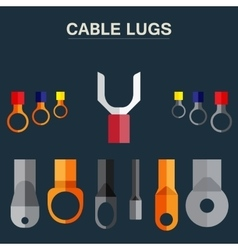 Lugs Cable vector image