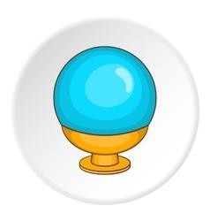 Magic ball icon cartoon style vector