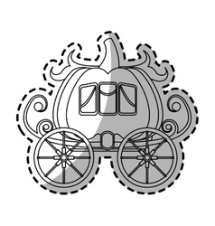 Medieval carriage icon vector