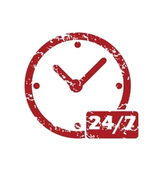 New red grunge clock logo vector