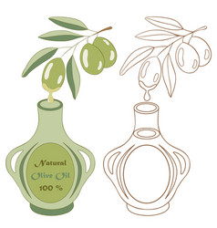 Olive oil 2 vector