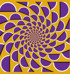 Optical purple shapes vector