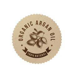 Organic argan oil emblem vector