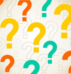 Question background vector image
