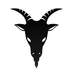 Ram goat horn capricorn zodiac sign vector