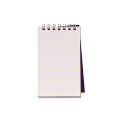 realistic of notebook with square paper vector image
