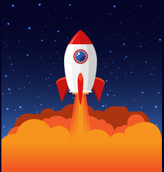 rocket launch product business vector image