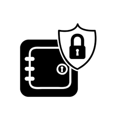 safe box security isolated icon vector image