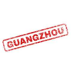 Scratched guangzhou rounded rectangle stamp vector