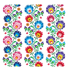 Seamless traditional folk polish pattern vector image