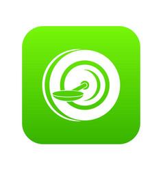 self balancing wheel icon digital green vector image