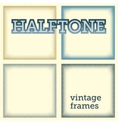 set halftones background vector image