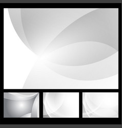 set of gray and white geometric abstract vector image