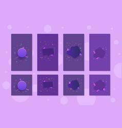 set of social media templates vector image