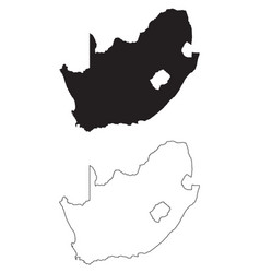 South africa country map black silhouette vector
