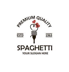 Spaghetti pasta emblem vector