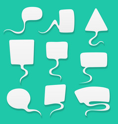 speech bubbles set in flat design vector image