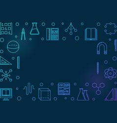 stem learning blue horizontal frame vector image