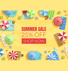 summer sale banner template shop now poster or vector image