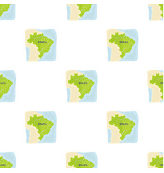 Territory of brazil icon in cartoon style isolated vector
