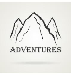 The three peaks vintage mountains Adventure vector image