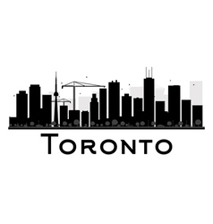 Toronto silhouette vector image