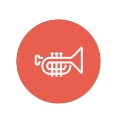 Trumpet thin line icon vector