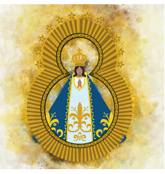 Virgin of suyapa vector