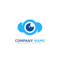 vision cloud logo icon design vector image