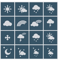 Wheather icons vector