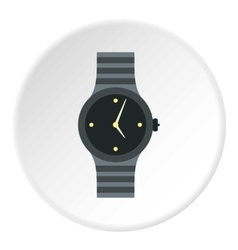 Wrist womens watch icon flat style vector