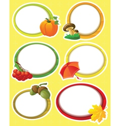 autumn stickers vector image