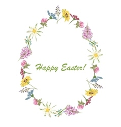 Easter floral egg for your design vector image vector image