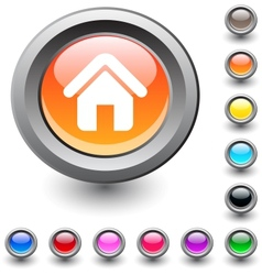Home round button vector image vector image