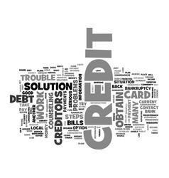 what to do if you have credit problems text word vector image vector image