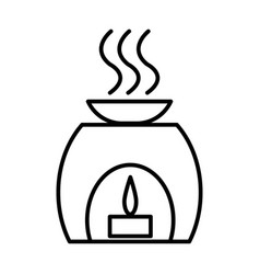 aromatherapy spa treatment line icon vector image vector image