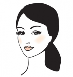 beauty girl face vector portrait vector image