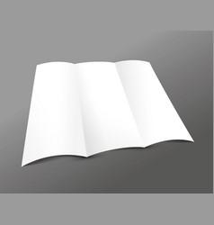 blank trifold leaflet vector image