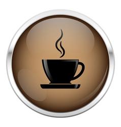 Brown coffee icon vector image vector image