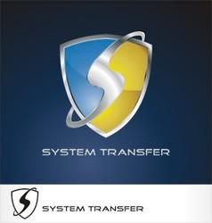 system transfer logo vector image vector image