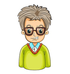 An angry businessman wearing an eyeglass vector image vector image