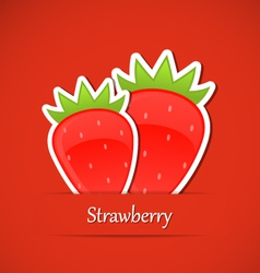 Berry label Strawberry vector image vector image