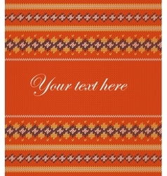 Colorful striped pattern on orange background vector