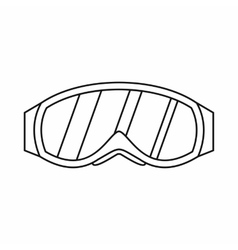 Glasses for snowboarding icon outline style vector image