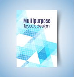 multipurpose layout design 6 vector image vector image