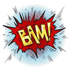 pop art retro comic speech bubble with word bam vector image vector image