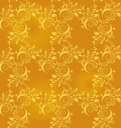 seamless background of gold leaf vector image vector image